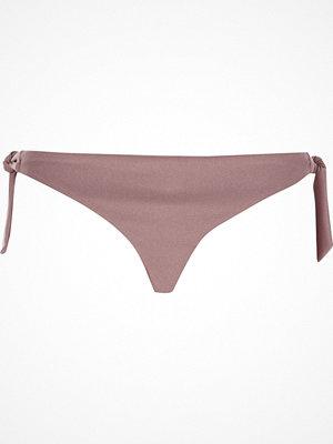 River Island Pink tie side string bikini bottoms