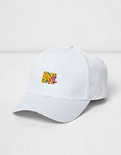 Mössor - River Island White 'NYC' cap