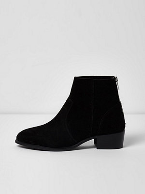Boots & kängor - River Island Black suede ankle boots