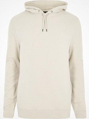 Street & luvtröjor - River Island Stone white jersey hoodie
