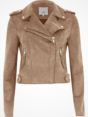 River Island Dark beige biker jacket