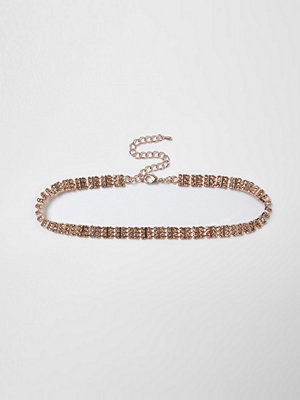 Chokers - River Island River Island Womens Orange aztec gem embellished choker