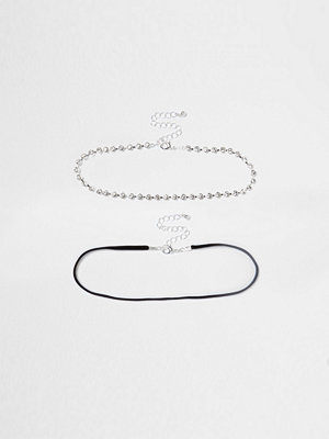 Chokers - River Island River Island Womens White diamante cup chain choker pack