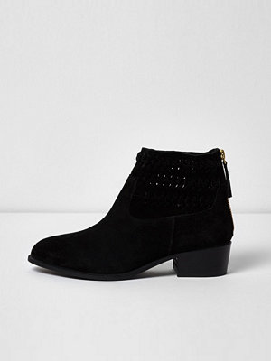 Boots & kängor - River Island Black suede woven boots