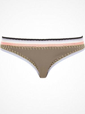 River Island Khaki saddle stitch bikini bottoms