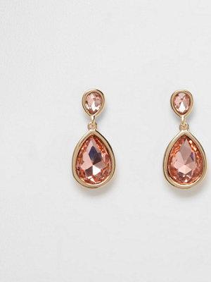 River Island örhängen Gold tone peach teardrop dangle earrings