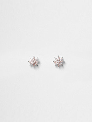 River Island örhängen Rose Gold tone cubic zirconia stud earrings