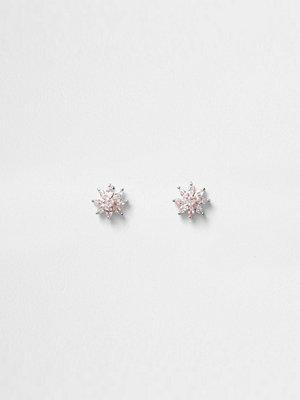 River Island örhängen Rose Gold tone cubic zirconia stud earrings