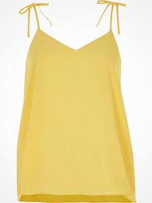 River Island Yellow bow cami top