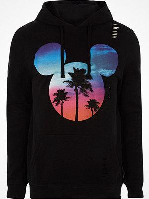 Street & luvtröjor - River Island Black Mickey Mouse print hoodie