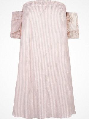 River Island Pink stripe print bardot swing dress