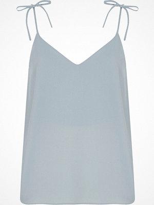 River Island Light blue bow shoulder cami top