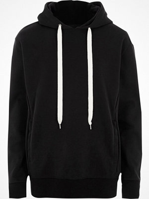 Street & luvtröjor - River Island Black Design Forum oversized scuba hoodie