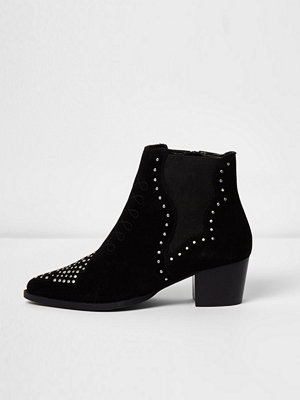 Boots & kängor - River Island Black studded western boots