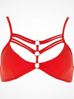 River Island Red ring strappy triangle bikini top