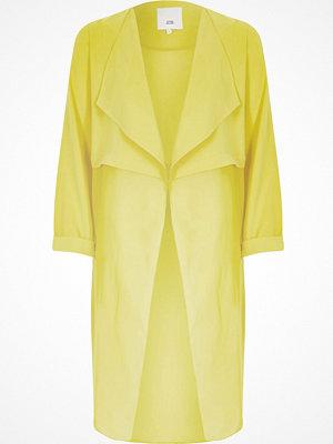 River Island Yellow sheer detail duster jacket