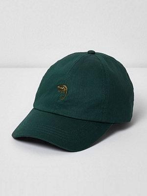 Mössor - River Island River Island Mens Green chameleon baseball cap