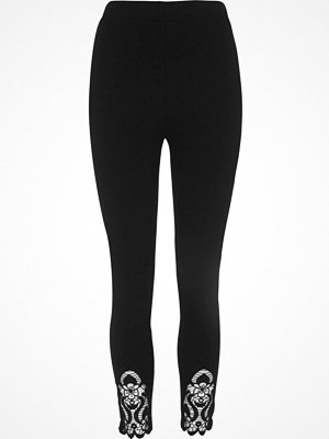 Leggings & tights - River Island Black crochet hem leggings
