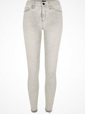Jeans - River Island Light grey Molly released hem jeggings