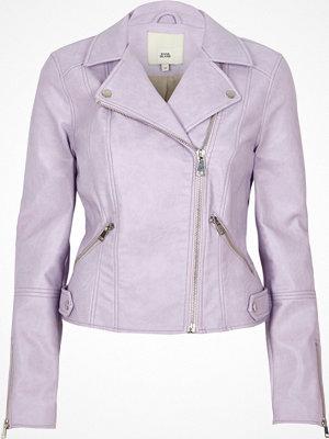 River Island Light purple faux leather biker jacket