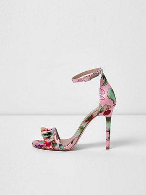 Sandaler & sandaletter - River Island Pink wide fit floral barely there sandals