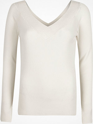 River Island River Island Womens White rib knit V neck top