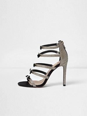 Sandaler & sandaletter - River Island Gold multi strap bow sandals