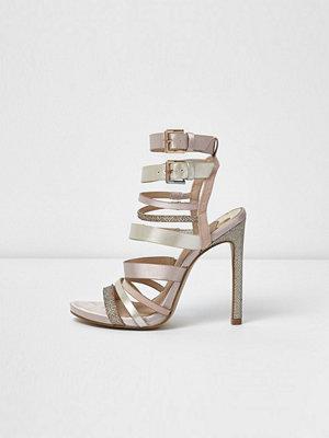 Sandaler & sandaletter - River Island Light pink multi strap sandals
