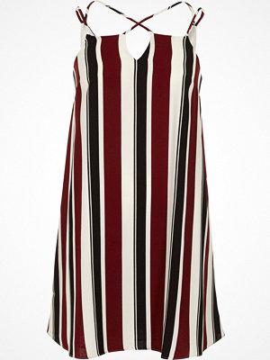 River Island Red stripe cross strap slip dress