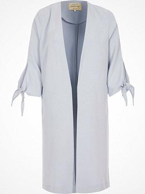 River Island Light blue tie cuff duster jacket