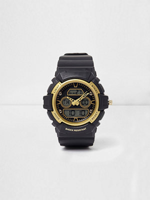 Klockor - River Island Black and yellow shock resistant watch