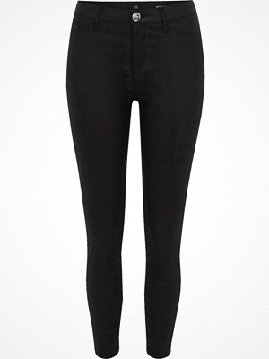 River Island Petite Black coated Molly skinny jeans