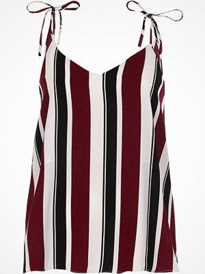 River Island Purple stripe bow shoulder cami top