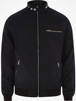 River Island Black lightweight racer jacket