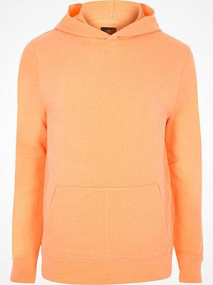 Street & luvtröjor - River Island Orange long sleeve hoodie