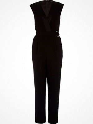 Jumpsuits & playsuits - River Island River Island Womens Black sleeveless tailored jumpsuit