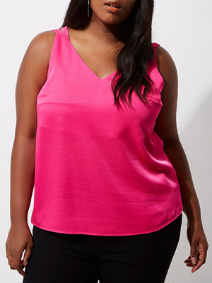 River Island Plus Pink cross back double strap cami top