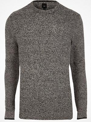 River Island River Island Mens Grey knit crew neck slim fit jumper