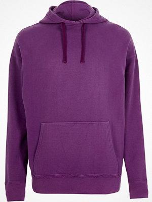 Street & luvtröjor - River Island Purple washed hoodie