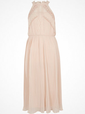 River Island Light Beige sleeveless lace midi dress