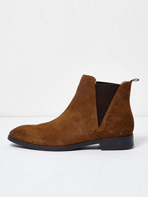 Boots & kängor - River Island Tan suede chelsea boots