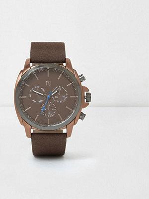 Klockor - River Island River Island Mens Brown copper case watch
