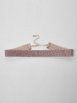 Chokers - River Island River Island Womens Light Pink heatseal diamante choker