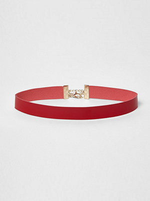 Chokers - River Island River Island Womens Red patent choker