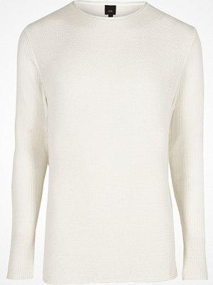 Tröjor & cardigans - River Island Cream rolled neck muscle fit jumper