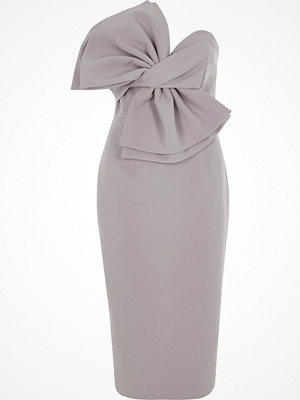 River Island Light Purple bow front bandeau bodycon dress
