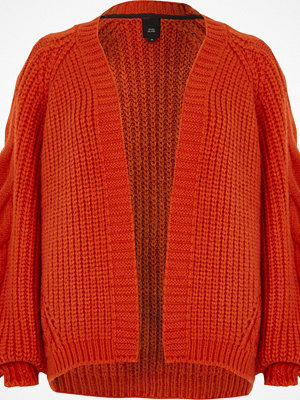 Cardigans - River Island Red chunky cable knit cardigan