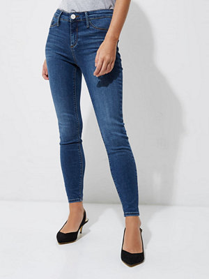 River Island Petite mid Blue wash Molly skinny jeggings