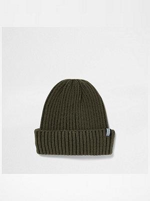 Mössor - River Island Dark khaki green fisherman beanie hat