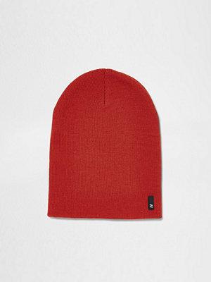 Mössor - River Island Orange knitted slouch beanie hat